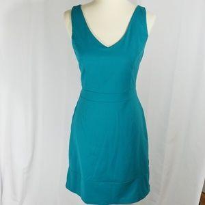 Cynthia Rowley Teal racerback sheath dress sz 10